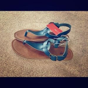 Mossimo Supply Co. Faux Leather Strap Sandals, NWT